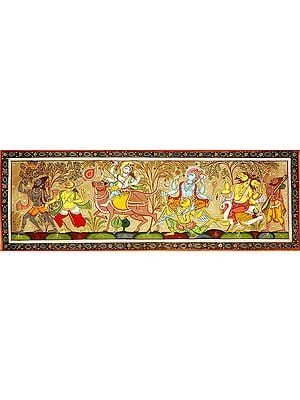 The Procession of Three Principal Brahmanical Deities with Saints and Lord Hanuman