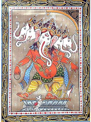 Tribhanga Panchmukha Ganesha