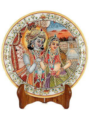 Radha with Her Beloved Krishna