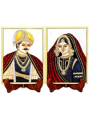 Prince and Princess (Embossed Painting)