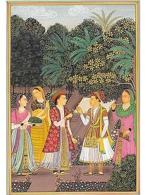 Jahangir with Nurjahan in Royal Garden