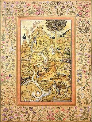 Laila Persuading Majnun