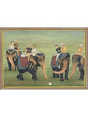 Polo on Elephants