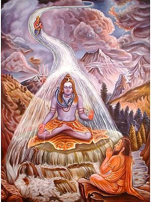 Descent of Ganga as Bhagirathi