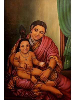 Krishna in the Lap of Mother