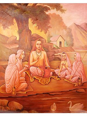 Adi Shankaracharya with Disciples