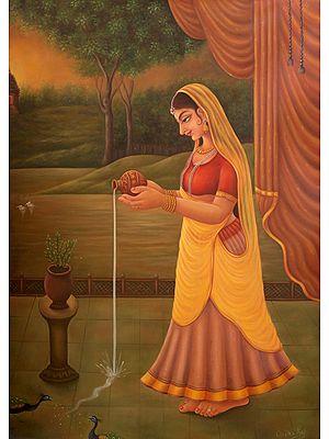 Early Morning Worship of Tulsi Devi