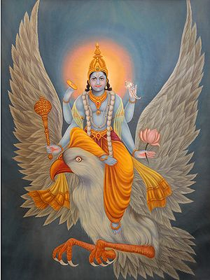 Lord Vishnu's Descent from Vaikuntha