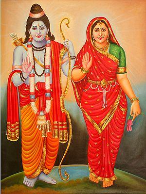 Blessing Goddess Sita and Lord Rama
