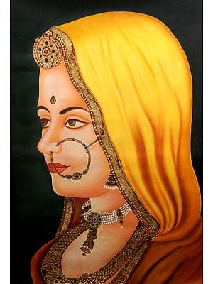 A Portrait of Rajasthani Bride