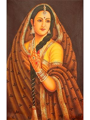 Portrait of a Lady from Rajasthan