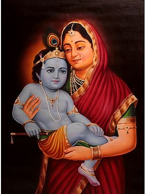 Baby Krishna in the Lap of Mother Yashoda