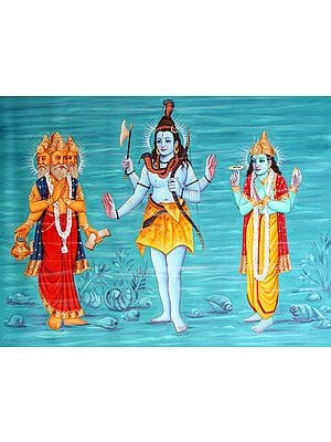 Tri-Devas - Brahma Shiva Vishnu