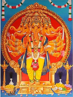 Five-Headed Lord Ganesha