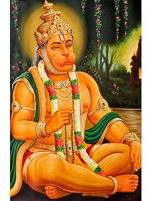 Shri Hanuman Commemorating Rama's Name