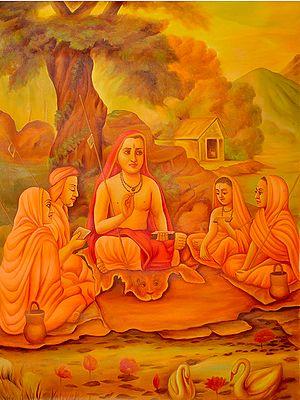 Adi Shankaracharya with Disciples