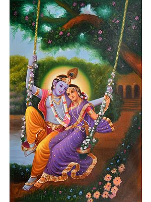 Krishna With His Bashful Beloved