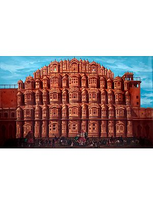 Regal Procession Afore The Hawa Mahal