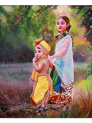 Krishna With His Elder Sister