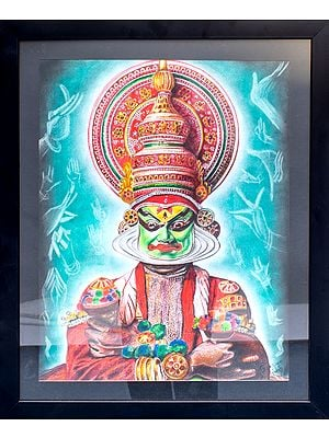 The Indian  Kathakali Dancer (Framed)