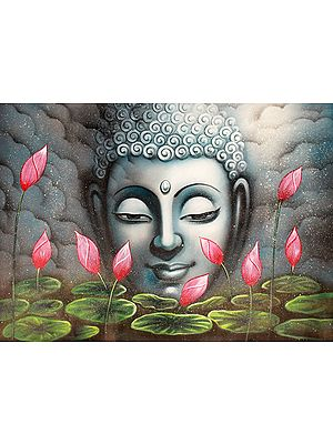 The Glowing Face Of The Buddha