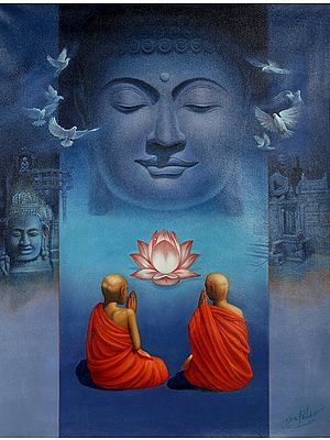 The Tranquil Face Of Lord Buddha