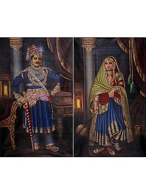 Indian Royalty (Set Of Two Paintings)