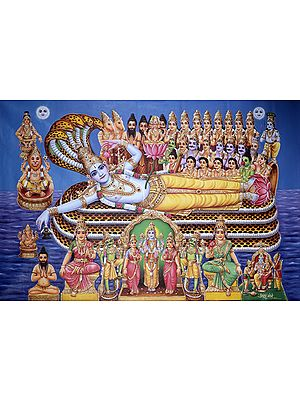 Sheshashayi Vishnu Worshipped by Gods