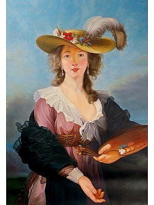 Self Portrait in a Straw Hat