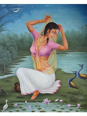 Radha on the Banks of Yamuna