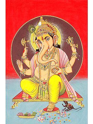 Four Armed Blessing Ganesha