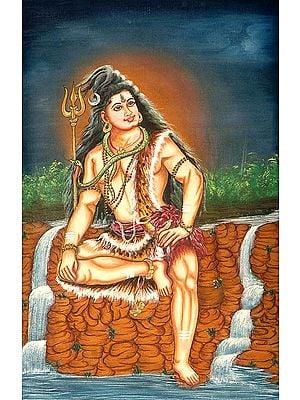 Lord Shiva on Mount Kailash