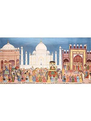 Mughal Procession at Taj Mahal
