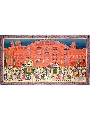 Procession at Hawa Mahal Jaipur