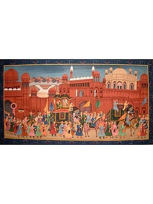 Procession at the Red Fort