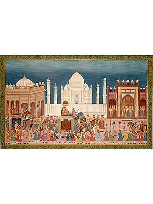 Procession at the Taj Mahal