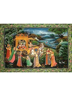 Radha and the Gopis Lament Krishna's Departure to Mathura
