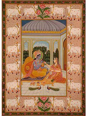 Radha Feeds Krishna
