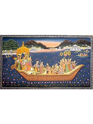 Radha Krishna Cross Us Over the Ocean of Suffering On the Ferryboat of Love