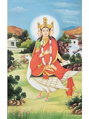 Rare Goddesses of India Series - Hingraaj Mata (Goddess Seated on a Duck)
