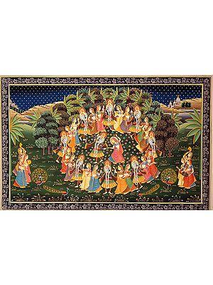Rasa Lila of Krishna with Gopis