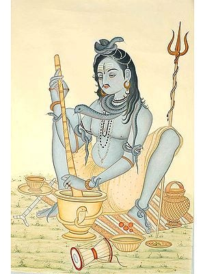 Shiva Concocting His Favorite Drink