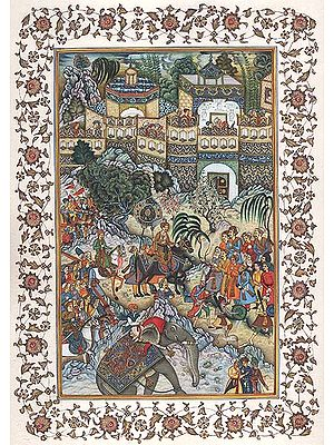 Akbar's Triumphant Entry into Surat
