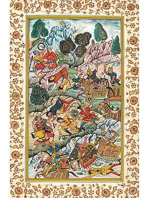 Battle Scene from the Akbarnama