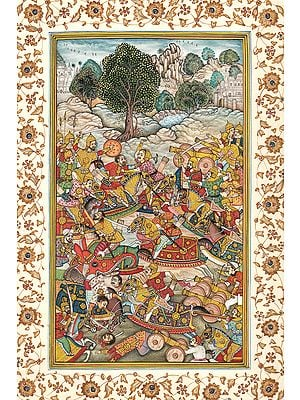 Persian Battle Scene