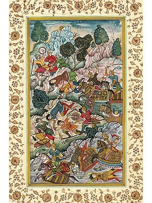 Battle Scene from the Akbarnama