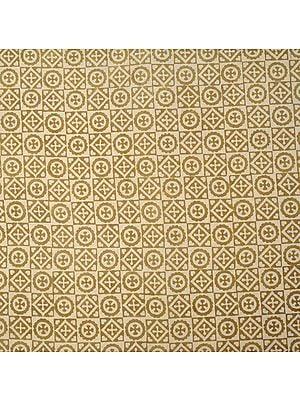 Cornhusk Fabric from Jodhpur with All Over Folk Print