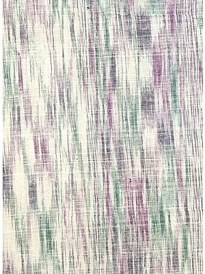 Green and Purple Handspun Coarse Khadi