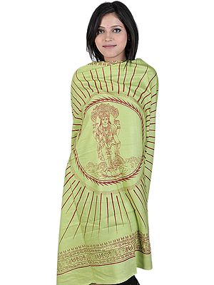 Green Prayer Shawl of Lord Vishnu the Preserver
