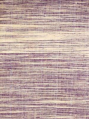Ivory and Purple Handspun Coarse Khadi